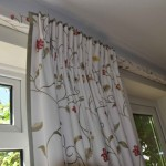 Short Drop Floral Curtains With Lathe And Fascia