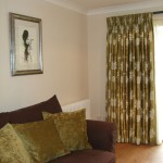 Silk Curtains And Chenille Cushions