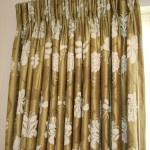 Silk Curtains Showing Border Detail