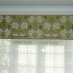 Silk Roman Blind With Border Detail