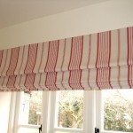 Red And Cream Stripe Roman Blind