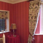 Dining Room Curtains With Matching Roman Blind