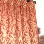 Chenille Curtains With Goblet Heading