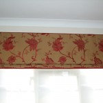 Roman Blind In Embroidered Linen Fabric