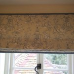 Oriental Toile Roman Blind With Border